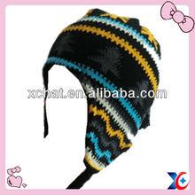 2014 fashion 100% acrylic knit ear winter hat