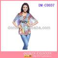 Caliente! Venta al por mayor colorido jóvenes damas manga murciélago blusas de moda/tops tops con estilo