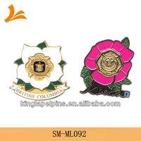 SM-ML092 custom metal flowers lapel pins for sale