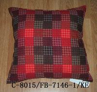 red & black cotton plaid denim fabric