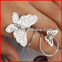 Designer ring, finger ring, butterfly ring