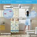 Baoyouni fancy tinta spray banheiro cortina de chuveiro pólo ferroviário 0116-p