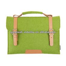Suoran Macbook Bag Wool Felt Sleeve With Vegetable Leather Handle Briefcase Portable Laptop bag for Macbook Air