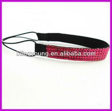 Fashion plastic headbands with rhinestones BY-1606