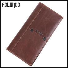 Europe popular men genuine leather travel wallet