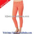 2014 Design de moda Stocklot personalizado Jean turquia calças de brim elegantes magras calças Jeans mulher de cor Jeans