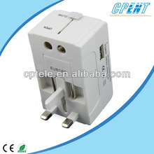 Made in China Hot Sale Travel International Plug Adapter with USB