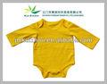 Mamelucos de algodón spandex tefetan bebé Amarillo