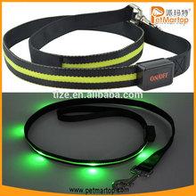 Nylon retractable led dog leash TZ-PET6102 led pet dog leash