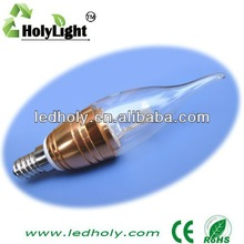 cheapest 3w led candel light led bulb e14