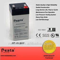 4 volt lead-acid battery 4v 3.0ah