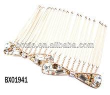 gold Plated Crystal Bridal Hair Comb,fashion hair accessory