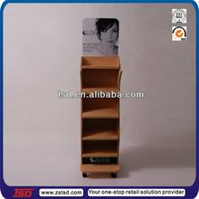 TSD-W768 adjustable shelf floor standing wood rack display shelf for hair salon/adjustable shelf display wood
