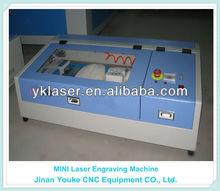 Bamboo wood glass rubber plastic crystal acrylic art / crafts Desktop Mini laser engraver 5030 for sale