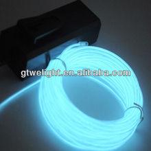 Blue 3M 10Ft Neon Light Glow EL Wire Rope Tube Car Dance Party Transparent