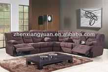 luxury recliner Hao wan jia fabric sectional sofa SF3651