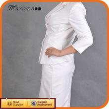 White Beauty Suit Women Lady Business Suits