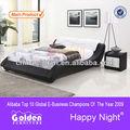 2015 atualizado mobiliário de design couro e madeira camas de dossel G967