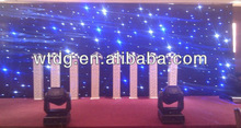 products All white 6*8 m LED star curtain,led star cloth led stage light/led star curtainRGBW108*3W led par stage light