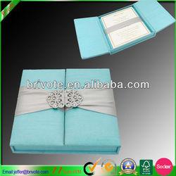 Wholesale silk invitation boxes wedding invitation silk boxes