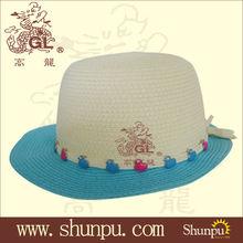 2013 children's fashion paper straw hats