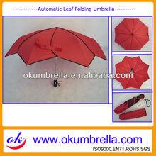 New Inventions Leaf Shape Folding Umbrella