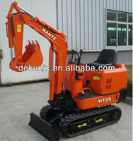 NT08 mini excavator earth digging machine with rubber track