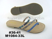2013 New design ladies sexy flat sandals (M1084-33L)