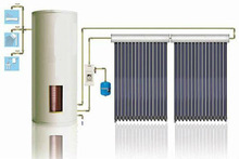 Split pressure solar water heater&separated flat plate collector solar hot water heaters