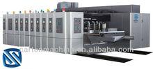 Full-servo vacuum suction high speed flexo printing Die cutting corrugated box making machine