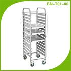 304 Single Row Stainless Steel Tray Trolley/Cake Pan Shelf