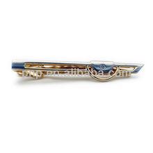 promotional innvoative unique blue metal tie bar