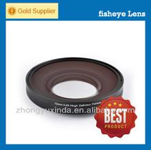 2014 hot sale! Jollystar camera additional lens 72mm 0.4x 360 degree fisheye lens projector