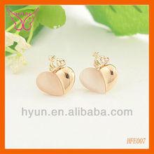 BIG HEART SHAPED EARRINGS HEART SHAPED DANGLE EARRINGS HEART SHAPE OPAL EARRINGS