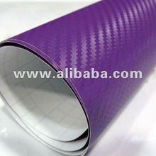 Polymeric 3D Carbon Fiber Car Wrap Vinyl Purple 1.52*30m