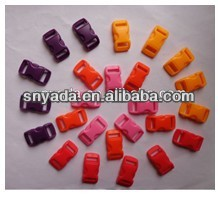 Hot sale 10mm small colored curved side release plastic buckle