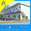 economic flat roof light steel prefab house(CHYT-F3012)