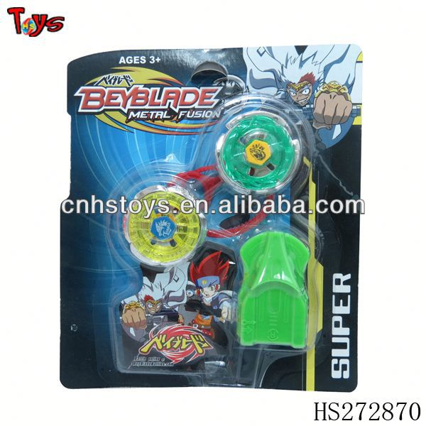 Cheap beyblade spinning top toy with ejector