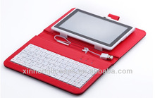 cloth grid 7 inch tablet pc keyboard/case for samsung tab3 7'' case