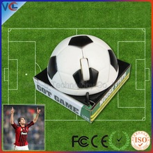 World Cup Gift! Wired 3d Football jite mini mouse with Colour Window box Packing