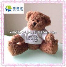 Plush bear with T-shirt toys
