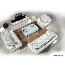 top grain white leather diamond sofa designs