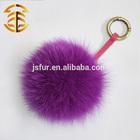 2014 New Style Fox Fur Ball Keychains For Bag Car Home Decoration Real Fur Accessories Hotsale Fox Fur Pom Pom Keychain