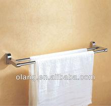 Hotel double towel bar brass chrome OL-2609