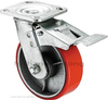 Industrial PU swivel heavy duty caster wheel with brake
