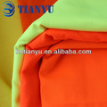 Bright cor laranja fluorescente tecido de microfibra para uniforme/vestuário