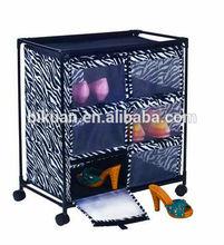 Zebra barato sapateira com tela de nylon capa