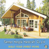 Eco-friendly Comfortable Prefabricated holiday wooden villa Ready made timber home log home