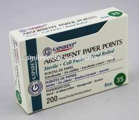 GAPADENT ISO .04 Absorbent Paper Dental Gutta Percha Points