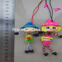 Creative gifts, soft ceramics Mobile phone bag pendant Soft the spot Mobile phone chain pendant keys